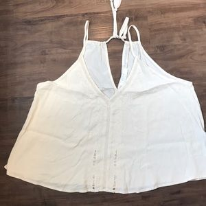 ASTR XL cream embroidered loose tank